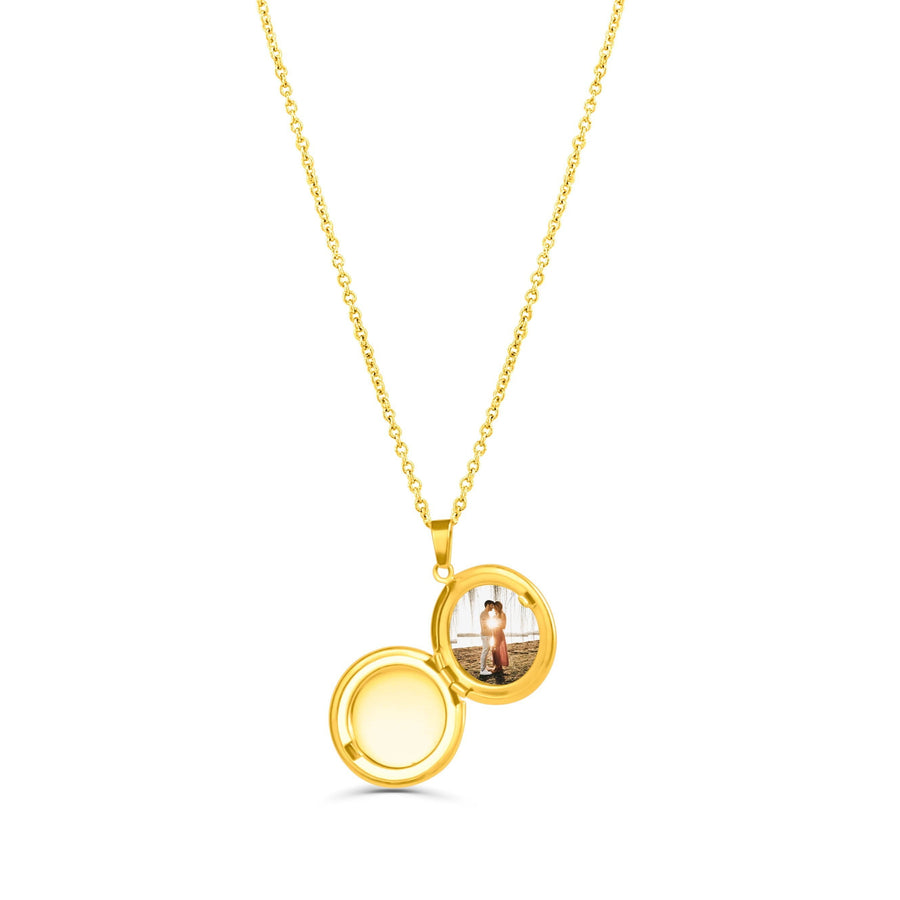 Custom Gold Circle Locket