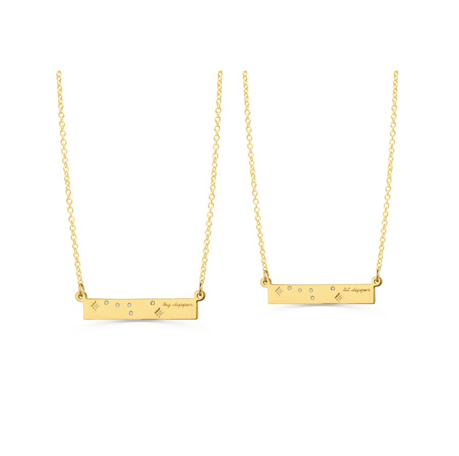 Big Dipper & Lil Dipper Necklace Set