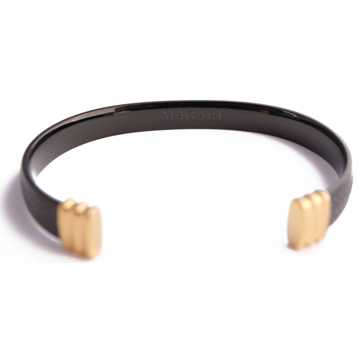 Magari Cuff - Black/Gold