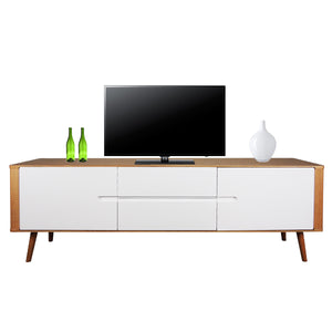 Cecil TV Console with Storage Gloss White