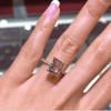 Image of Classic Rose Gold Emerald Cut Promise Ring