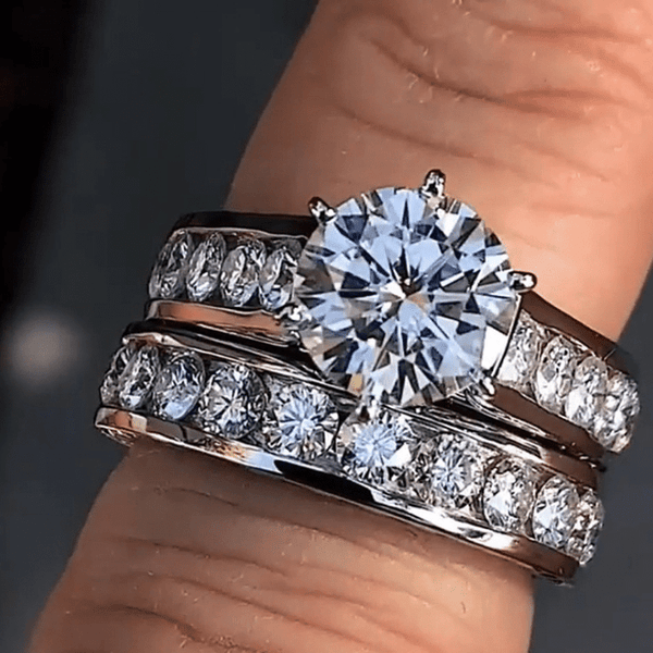 Full Stud Couple Ring (Prestige)
