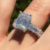 Image of Square Sparkle Halo Ring