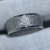 Image of Pave Setting 4-Row Wedding Band (Special Pricing)