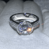 Image of Brilliant Round Halo Wedding Ring