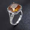 Image of Square Champagne Shank Engagement Ring