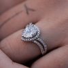 Image of Teardrop Double Band Engagement Ring