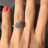 Image of Beautiful Split Shank Floating Halo Ring