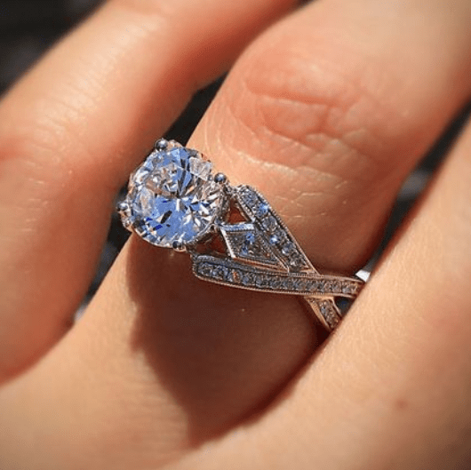 Brilliant Criss Cross Engagement Ring