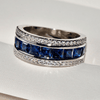 Image of Sapphire Inlaid Eternity Wedding Ring