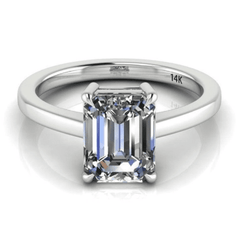 Classic Emerald Cut Solitaire Diamond Ring