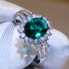 Image of Malachite Silver-Petal Fashion Ring