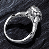 Image of 925 Sterling Silver - Teardrop Twist Fashion Ring