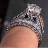 Image of Full Stud Couple Ring