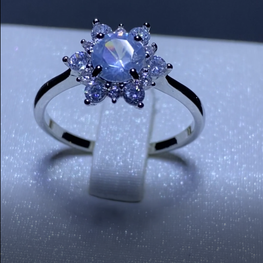 Floral Glam Gem Stone Ring
