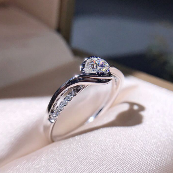 Twisted Halo Engagement Ring