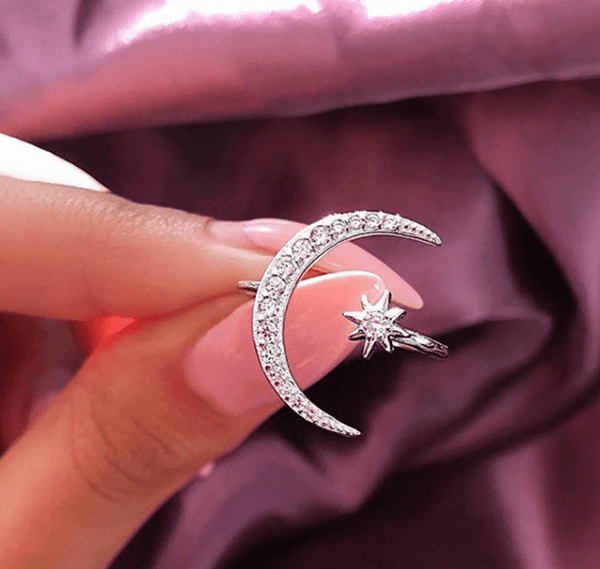 Majestic Star & Moon Adjustable Ring