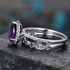 Image of Purple Pear-Cut Luxurious Engagement Ring