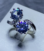 Image of Dazzling Bloom Double Stone Ring