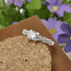 Image of Sparkling White Sapphire Double Ring