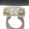 "Image of Sparkling ""DNA"" Studded Wedding Ring"
