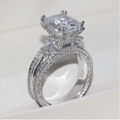 Sparkling White Sapphire Ring