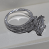 Image of Sparkling White Sapphire Ring