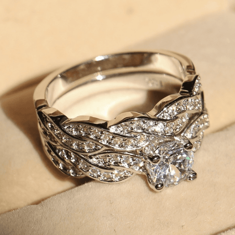 Exquisite White Sapphire Ring Set (Exclusive Pricing)