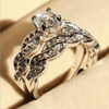 Image of Exquisite White Sapphire Ring Set (Prestige)