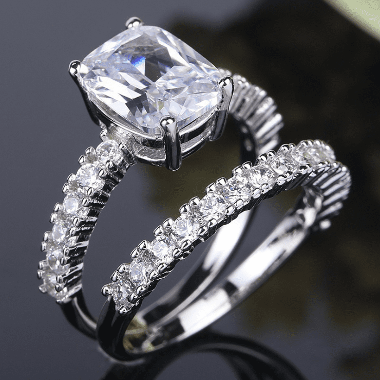 Sparkling White Stone Women's Ring Set (Special Pricing)