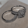 Image of Exquisite White Ring Set