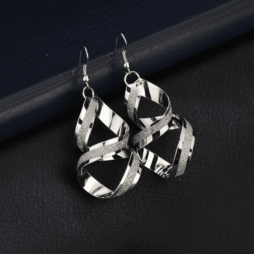 Women's Frosted Weave Earrings