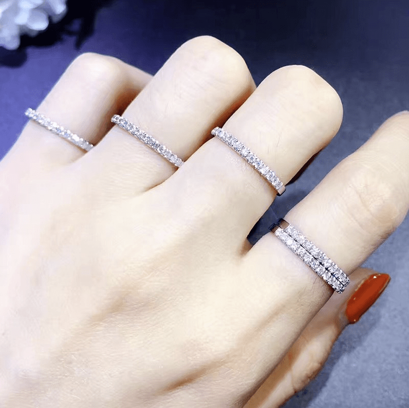 Studded Women's Wedding Band