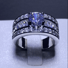 Image of Mid-Channeled Glamorous Inlaid Ring