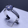 Image of Fine Detailed Sleek Gem-Studded Ring