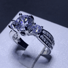 Image of Exquisite 3 Stone Pave Ring