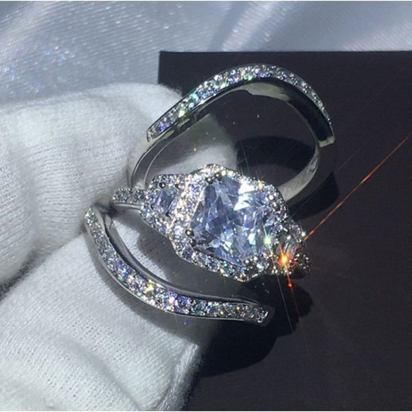 Princess Cut Ring Set (Prestige)