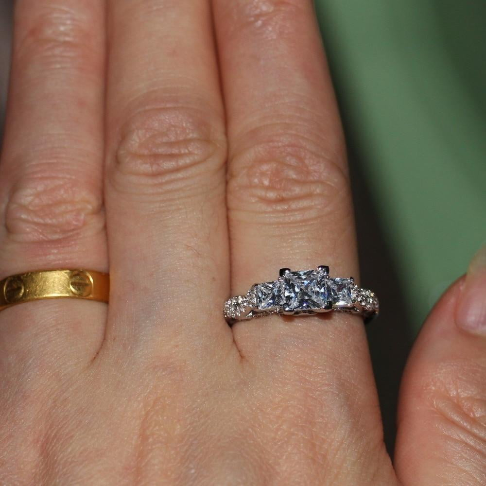 Triple-Woven Gorgeous Diamond Ring