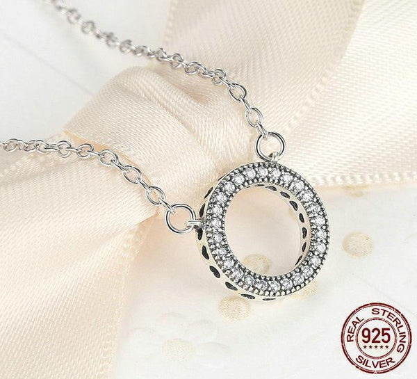 Redefined Luxury Studded Circle Romantic Necklaces