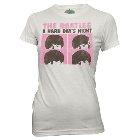 The Beatles | Hard Days Night Pink Squares T-Shirt