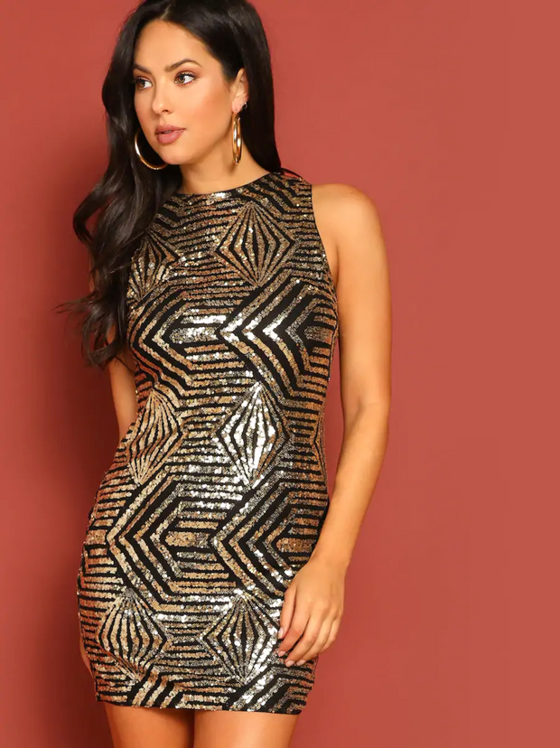 Cluster Sequin stylish Dress