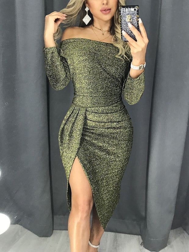 Mesh Sleeve Self Tie Dress