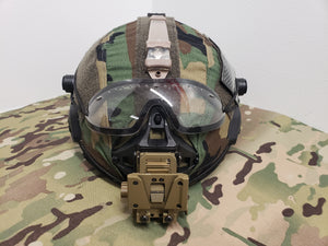 A&A Tactical, LLC MTEK Flux Carbon/Ballistic Hybrid Helmet Cover