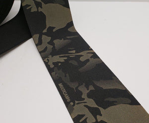 "MMI 4"" inch Double Sided Crye Multicam Black Elastic Webbing"