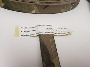 "MMI 1"" inch Multicam Double-Sided Webbing MIL-W-17337"