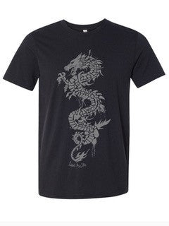 Grey Dragon Black Men's Tee - lovethislife, iamlovethislife, love this life, David Culiner, manifesto, ltl, Love This Life®️