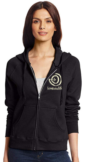 Love This Life 2 Paths Black Full Zip Hooded Sweatshirt