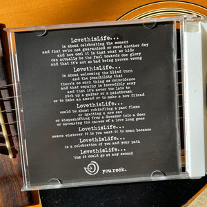 Love This Life CD Manifesto Insert By David Culiner