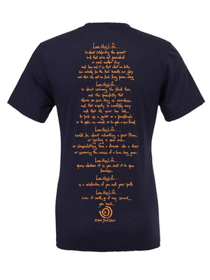 2 Paths Orange Men's Tee - lovethislife, iamlovethislife, love this life, David Culiner, manifesto, ltl