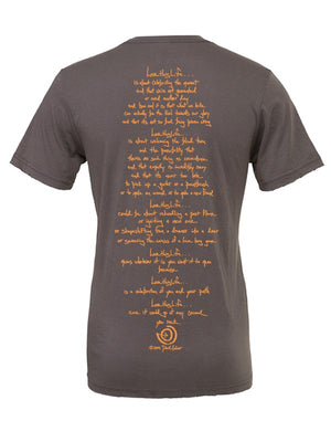 2 Paths Asphalt Men's Tee - lovethislife, iamlovethislife, love this life, David Culiner, manifesto, ltl
